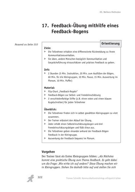 feedback uebung mithilfe eines feedback bogens