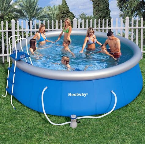 bestway fast set  inflatable pool package ft