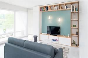 Petite Tv Ecran Plat : salle de jeux canape tele deux couleur design de maison ~ Nature-et-papiers.com Idées de Décoration