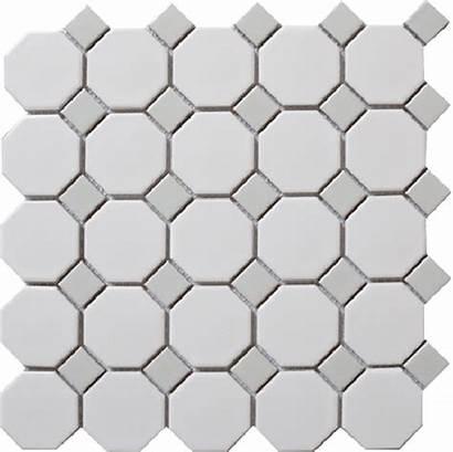 Octagon Mosaic Gray Grey Dot Tile Porcelain