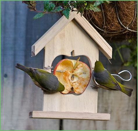 new zealand made timber fruit bird feeders