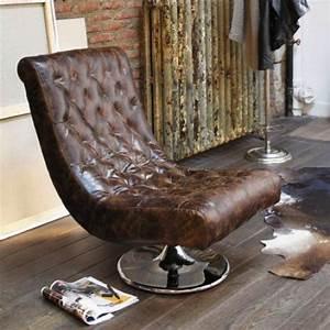 Fauteuil Cuir Design : du mobilier style vintage et industriel abordable ~ Melissatoandfro.com Idées de Décoration