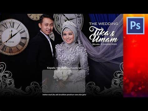 cover desain undangan pernikahan tutorial photoshop