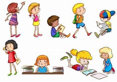 Activities Doing Children Vector Different Illustration Students
