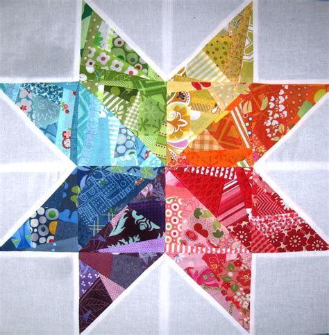 free quilt block patterns scrappy rainbow quilt block favequilts