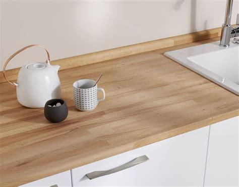 cuisine hetre clair un plan de travail sur mesure pour ma cuisine côté maison