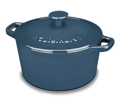 cuisinart enameled cast iron  dutch oven  quart blue cutlery