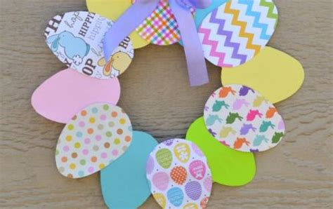 This Paper Easter Wreath Is A Great Easter Craft For Kids