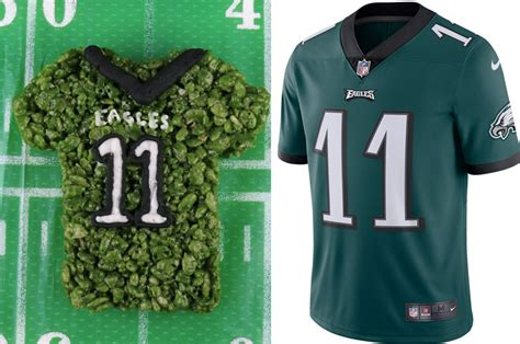 Philadelphia Eagles Rice Krispie Treats