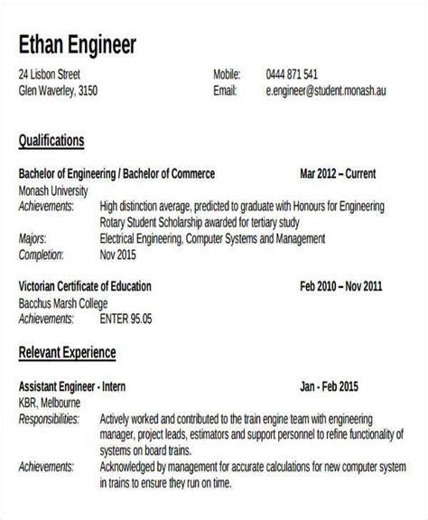 engineering resume samples    premium