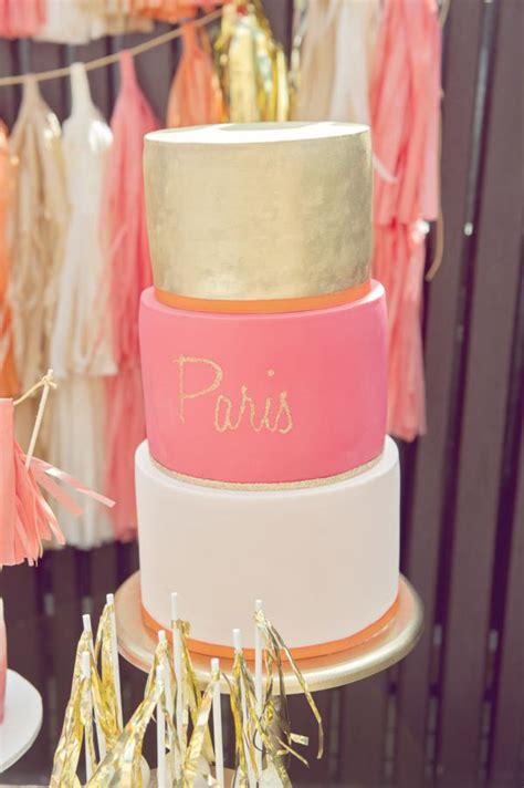 karas party ideas orange pink gold vibrant girlst