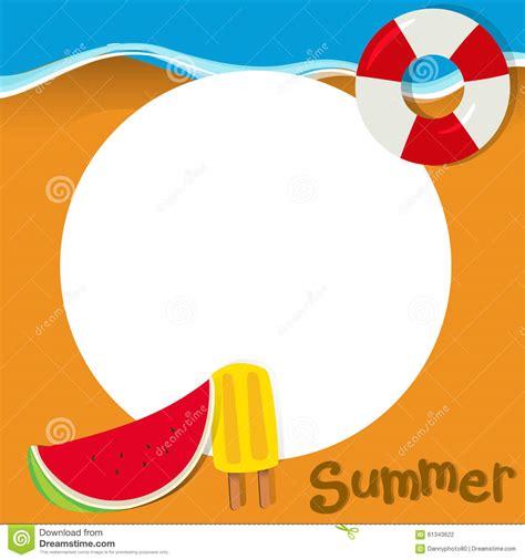 border design  summer theme stock vector image