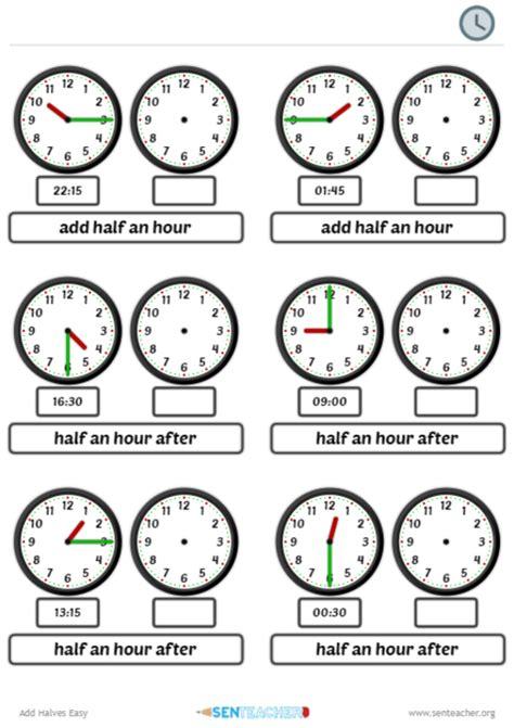 sen teacher clocks arithmetic printable worksheet