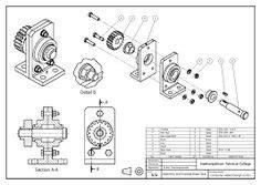 mechanical drawings blueprints cad drawings