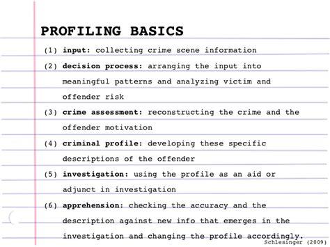 Criminal Psychological Profile Template