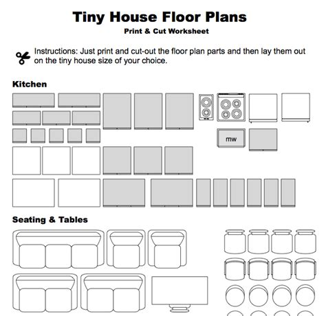 Tiny House Design Construction Guide Ebook Pdf by Print Cut Floor Plan Worksheet