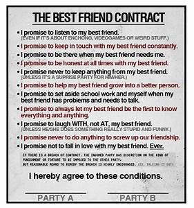 printable friendship contracts printable friendship With funny contract template