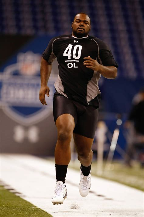 michael oher    nfl scouting combine day