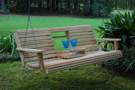 Wooden Porch Swings by Wood Wooden Bench Porch Swing 5ft Cypress Flip