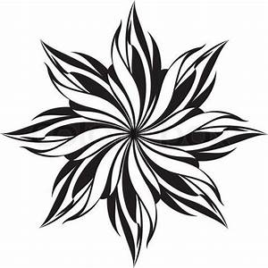Free Black and White stencil | ... vector of 'Floral ...