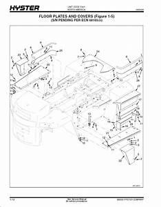 Hyster Challenger H170hd  H190hd  H210hd  H230hd  H250hd  H280hd Forklift Service   Parts Manual