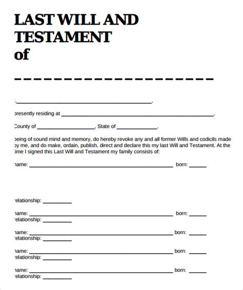 If you need more guidance before getting started on your last will and testament, ask a lawyer or check out more estate planning documents. Sample Last Will And Testament Form - 9+ Free , Examples ...