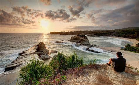 foto terbaik wisata pacitan pantai klayar  dunia maya