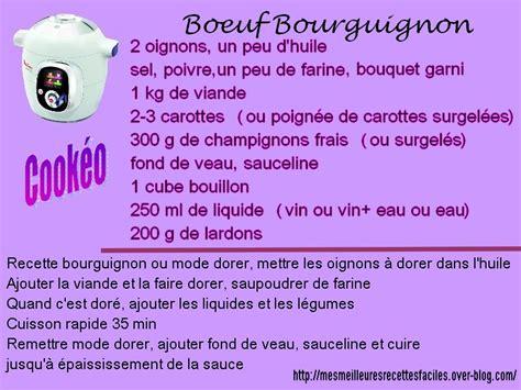 cuisine et vin recette boeuf bourguignon au cookéo mes meilleures recettes faciles