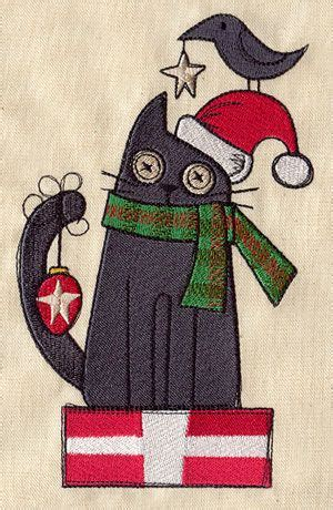 christmas kitty urban threads unique  awesome embroidery designs cat quilt christmas cats