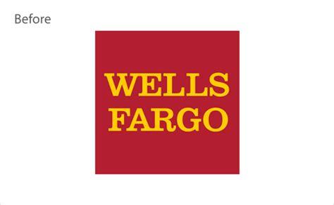 bank wells fargo unveils  logo design logo