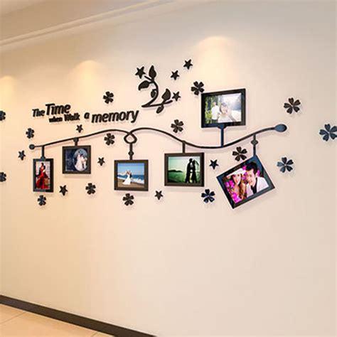 Wand Mit Bilderrahmen Gestalten by Photo Frame And Flower Design Acrylic 3d Wall Stickers Diy