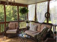 "screened porch decorating ideas ""DIY Screened Porch"" Sheer Curtains--18 months later 