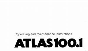 Atlas 100 1 Crane Operating And Maintenance Instructions Pdf