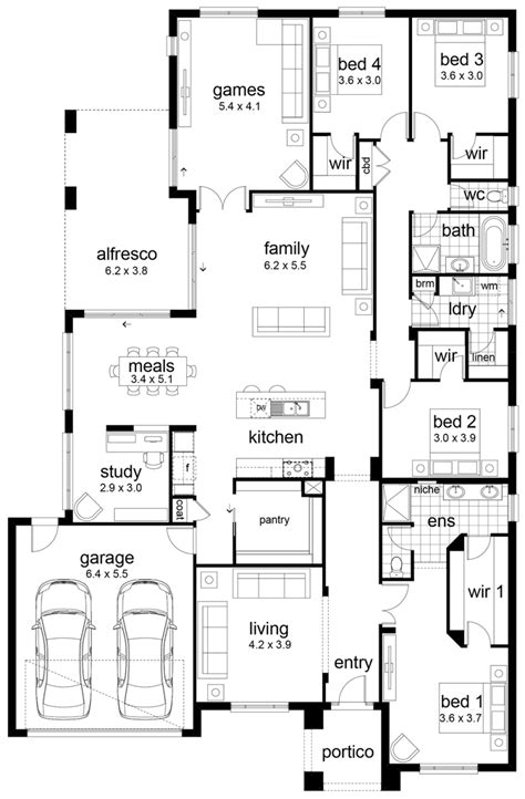 4 bedroom floor plans floor plan friday 4 bedroom family home
