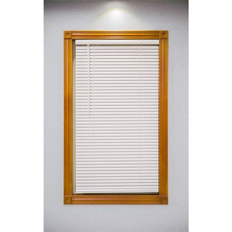 Mini Blinds by White Cordless 1 In Vinyl Mini Blind 35 In W X 72 In