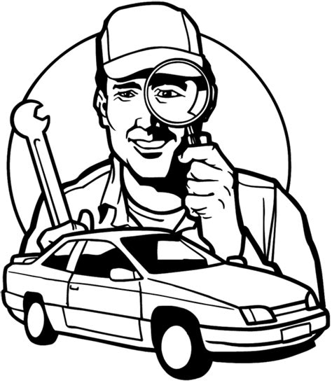 mechanic clipart black and white signspecialist beevault decals mechanic with