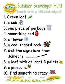 Summer Scavenger Hunt Ideas for Kids