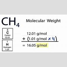 Ch4 Molecular Weight How To Find The Molar Mass Of Ch4 Youtube