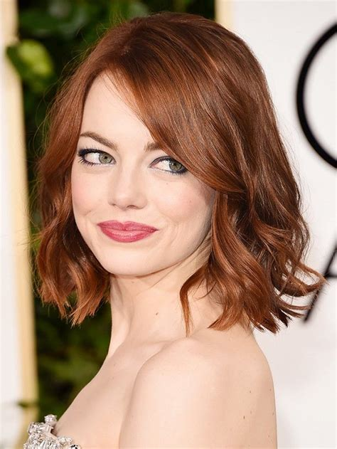 Emma Stone Copper Hair Color  Cashmere Hair Clip In Extensions