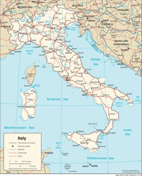 Ģeogrāfiskā karte - Itālija - 1,397 x 1,737 Pikselis - 621 ...