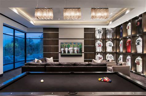 minimalist mountainside contemporary family room