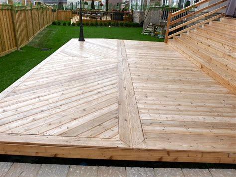 cedar patio deck with deck lighting toronto custom deck