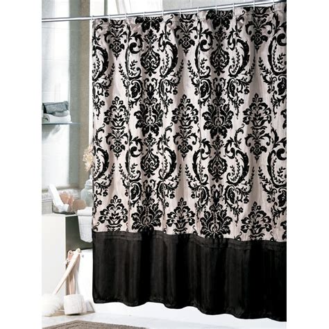 black white and silver bathroom ideas shower curtain
