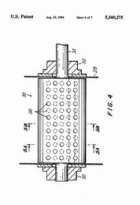 patent us5340275 rotary throat cutoff device and method With noise reduction
