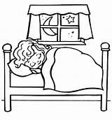 Bedtime Coloring Bed Getdrawings Bunk sketch template