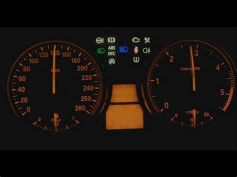 bmw dashboard cluster hidden menu gauge test coolant