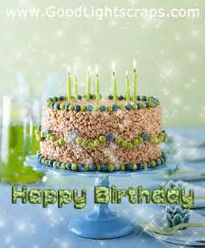 Animated Happy Birthday Cake with Candles
