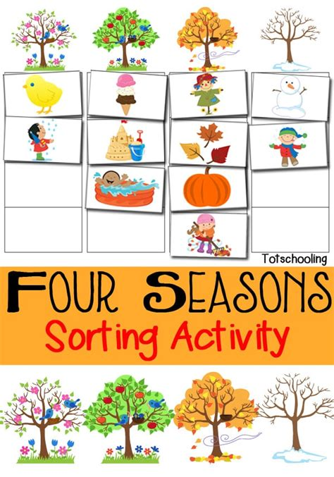 free four seasons sorting printable free homeschool deals