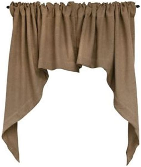 How To Sew Lined Curtains by Burlap Swag Curtain Window Valance Primitive French