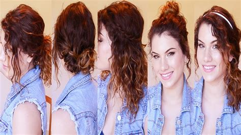 simple hairstyles for curly hair for school 5 back to school curly hairstyles easy heatless youtube